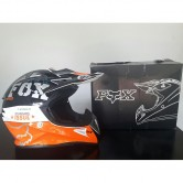 NEW FOX RACING ORANGE AND WHITE V1 RACE MX ATV MOTOCROSS HELMET