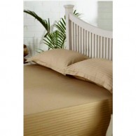Self Striped Dark Beige
