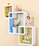 Lash Intersecting Squares Decorative Wall Shelf