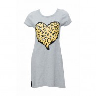 Girl Buger Frock Designed - Grey