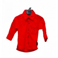 Single Sided Pocket Boys Shirt - Red