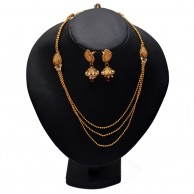 Style Hollywood Gold Plated Necklace Set