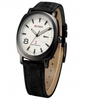 Curren Men's Military White Dial Watch