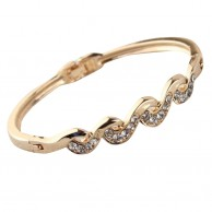 Austrian Crystal Rose Gold Plated Bangle