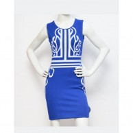 Cut Work Women Dress - Blue