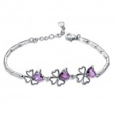 Purple Zircon 925 Sterling Silver Bracelet