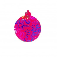 Pack Of 10 Pink And Blue Designed Christmas Decoration Ball Stickers