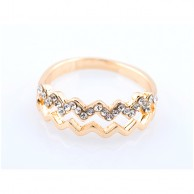 Gold Zigzag Ring RGGZ