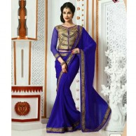 Designer Wear Blue Saree SR1471
