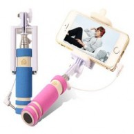 Mini portable Selfie Stick with camera Shutter key via headphone jack