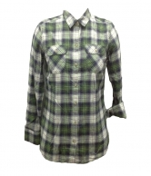 Flannel Plaid Dress Shirts for Women C4
