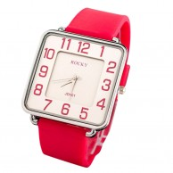 Red Rocky Silicone Watch