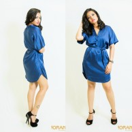 Blue shirt dress - 22461-2
