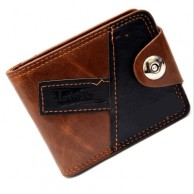 Casual Wear Leather Men's Brown And Black  Wallet