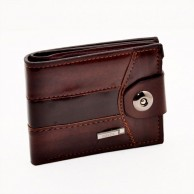 Brown Men Casual Leather Wallet