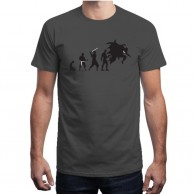 Batman Evolution Grey T shirt for Men