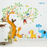 Wall sticker-Animal Tree