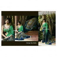 PARTY & WEDDING WEAR SAREE DESIGN 7224