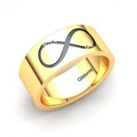 Engraveable Infinity Couple Rings