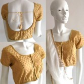 Ready Made Blouse Gold polka brocade