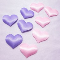 Padded Felt Heart Applique Sewing Trim