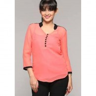 Chinese Collar Ladies Short Top 1069
