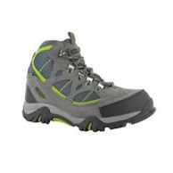 Hi Tec Renegade Trail WP JR Shoe Graphite Dark Grey and Chartreuse