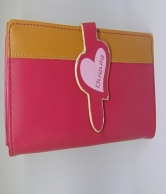 Pink and Brown Wallet For Women
