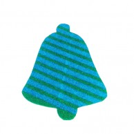 Pack Of 10 Blue And Green Christmas Decoration Bell Stickers