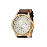 CURREN Men's Brown Strap Quartz Wrist Watch