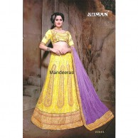 Multi Colour Embroidered Designer Lehenga Choli Design No 20001
