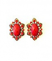 Hollywood Style Red Fashion Earrings