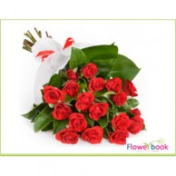 Single Red Roses Sheaf RM004