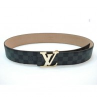 Black Checked Men's Belt