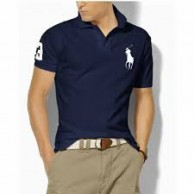 Men's Big Pony Navy Blue T Shirt