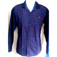 Shiny Blue Quality Indian Printed Shirts