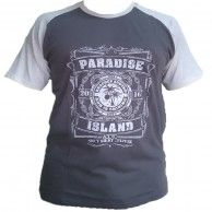 Paradise Raglan - Grey / Off white