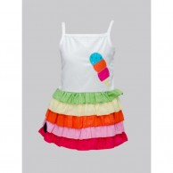 Multi Color Bottom Dress