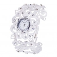 Women's Luxury Crystal Silver Bracelet Wrist Watch