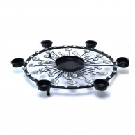 Stainless Steel Black Mazma Candle Holder