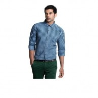 Collar Shirt Black and Blue Check