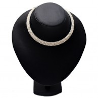 White Diamond Silver Plated Fashion Necklace